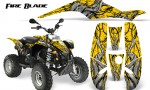 POLARIS Scrambler 500 Trailblazer 350 500 CreatorX Graphics Kit Fire Blade Black Yellow 150x90 - Polaris Scrambler Trailblazer 1985-2009 Graphics