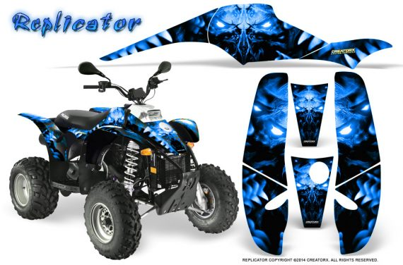 POLARIS Scrambler 500 Trailblazer 350 500 CreatorX Graphics Kit Replicator Blue 570x376 - Polaris Scrambler Trailblazer 1985-2009 Graphics