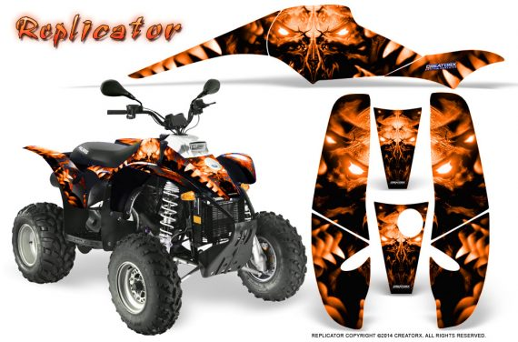 POLARIS Scrambler 500 Trailblazer 350 500 CreatorX Graphics Kit Replicator Orange 570x376 - Polaris Scrambler Trailblazer 1985-2009 Graphics