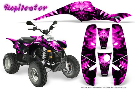 POLARIS Scrambler 500 Trailblazer 350 500 CreatorX Graphics Kit Replicator Pink 570x376 - Polaris Scrambler Trailblazer 1985-2009 Graphics