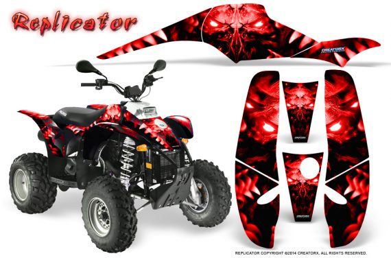 POLARIS Scrambler 500 Trailblazer 350 500 CreatorX Graphics Kit Replicator Red 570x376 - Polaris Scrambler Trailblazer 1985-2009 Graphics