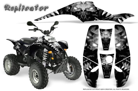 POLARIS Scrambler 500 Trailblazer 350 500 CreatorX Graphics Kit Replicator Silver 570x376 - Polaris Scrambler Trailblazer 1985-2009 Graphics