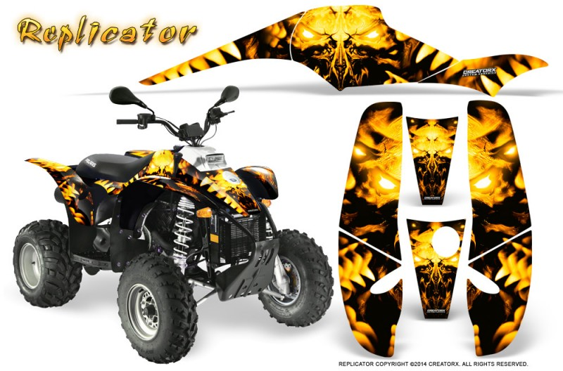 POLARIS-Scrambler-500-Trailblazer-350-500-CreatorX-Graphics-Kit-Replicator-Yellow