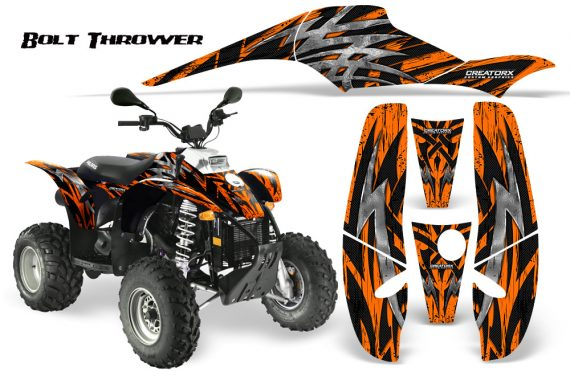 POLARIS Scrambler 500 Trailblazer 350 CreatorX Graphics Kit Bolt Thrower Orange 570x376 - Polaris Scrambler Trailblazer 1985-2009 Graphics