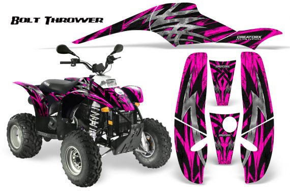 POLARIS Scrambler 500 Trailblazer 350 CreatorX Graphics Kit Bolt Thrower Pink 570x376 - Polaris Scrambler Trailblazer 1985-2009 Graphics