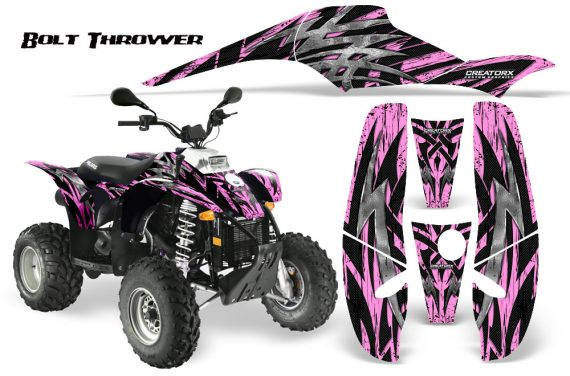 POLARIS Scrambler 500 Trailblazer 350 CreatorX Graphics Kit Bolt Thrower Pink Lite 570x376 - Polaris Scrambler Trailblazer 1985-2009 Graphics