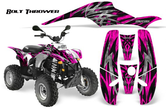 POLARIS Scrambler 500 Trailblazer 350 CreatorX Graphics Kit Bolt Thrower Pink WB 570x376 - Polaris Scrambler Trailblazer 1985-2009 Graphics