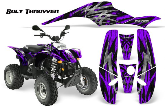 POLARIS Scrambler 500 Trailblazer 350 CreatorX Graphics Kit Bolt Thrower Purple 570x376 - Polaris Scrambler Trailblazer 1985-2009 Graphics