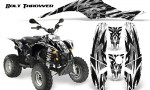 POLARIS Scrambler 500 Trailblazer 350 CreatorX Graphics Kit Bolt Thrower White 150x90 - Polaris Scrambler Trailblazer 1985-2009 Graphics