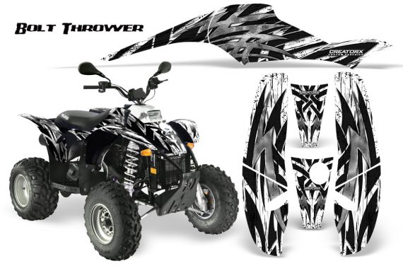 POLARIS Scrambler 500 Trailblazer 350 CreatorX Graphics Kit Bolt Thrower White 570x376 - Polaris Scrambler Trailblazer 1985-2009 Graphics