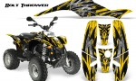 POLARIS Scrambler 500 Trailblazer 350 CreatorX Graphics Kit Bolt Thrower Yellow 150x90 - Polaris Scrambler Trailblazer 1985-2009 Graphics