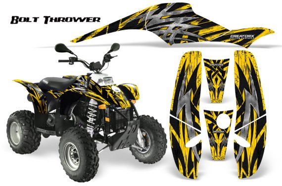 POLARIS Scrambler 500 Trailblazer 350 CreatorX Graphics Kit Bolt Thrower Yellow 570x376 - Polaris Scrambler Trailblazer 1985-2009 Graphics