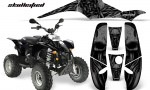 POLARIS Scrambler 500 Trailblazer 350 CreatorX Graphics Kit Skullcified Black Black 150x90 - Polaris Scrambler Trailblazer 1985-2009 Graphics