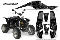 POLARIS-Scrambler-500-Trailblazer-350-CreatorX-Graphics-Kit-Skullcified-Black-Black