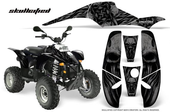 POLARIS Scrambler 500 Trailblazer 350 CreatorX Graphics Kit Skullcified Black Black 570x376 - Polaris Scrambler Trailblazer 1985-2009 Graphics