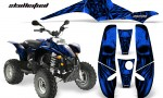 POLARIS Scrambler 500 Trailblazer 350 CreatorX Graphics Kit Skullcified Blue Black 150x90 - Polaris Scrambler Trailblazer 1985-2009 Graphics