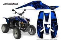 POLARIS-Scrambler-500-Trailblazer-350-CreatorX-Graphics-Kit-Skullcified-Blue-Black