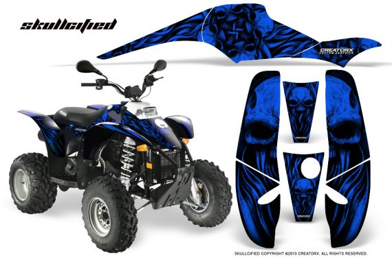 POLARIS Scrambler 500 Trailblazer 350 CreatorX Graphics Kit Skullcified Blue Black 570x376 - Polaris Scrambler Trailblazer 1985-2009 Graphics