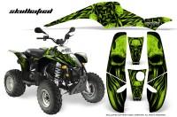 POLARIS-Scrambler-500-Trailblazer-350-CreatorX-Graphics-Kit-Skullcified-Green-Black
