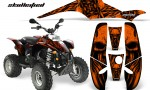 POLARIS Scrambler 500 Trailblazer 350 CreatorX Graphics Kit Skullcified Orange Black 150x90 - Polaris Scrambler Trailblazer 1985-2009 Graphics