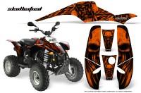POLARIS-Scrambler-500-Trailblazer-350-CreatorX-Graphics-Kit-Skullcified-Orange-Black