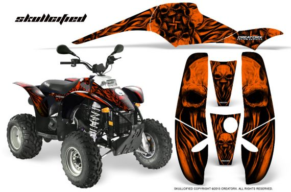 POLARIS Scrambler 500 Trailblazer 350 CreatorX Graphics Kit Skullcified Orange Black 570x376 - Polaris Scrambler Trailblazer 1985-2009 Graphics