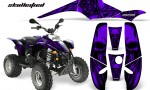 POLARIS Scrambler 500 Trailblazer 350 CreatorX Graphics Kit Skullcified Purple Black 150x90 - Polaris Scrambler Trailblazer 1985-2009 Graphics
