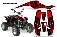 POLARIS-Scrambler-500-Trailblazer-350-CreatorX-Graphics-Kit-Skullcified-Red-Black