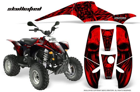 POLARIS Scrambler 500 Trailblazer 350 CreatorX Graphics Kit Skullcified Red Black 570x376 - Polaris Scrambler Trailblazer 1985-2009 Graphics
