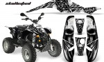 POLARIS Scrambler 500 Trailblazer 350 CreatorX Graphics Kit Skullcified Silver Black 150x90 - Polaris Scrambler Trailblazer 1985-2009 Graphics