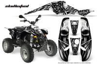 POLARIS-Scrambler-500-Trailblazer-350-CreatorX-Graphics-Kit-Skullcified-Silver-Black