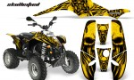 POLARIS Scrambler 500 Trailblazer 350 CreatorX Graphics Kit Skullcified Yellow Black 150x90 - Polaris Scrambler Trailblazer 1985-2009 Graphics
