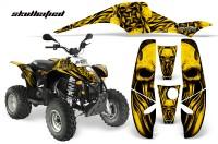 POLARIS-Scrambler-500-Trailblazer-350-CreatorX-Graphics-Kit-Skullcified-Yellow-Black