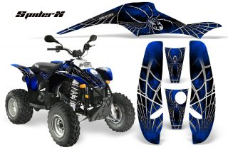 POLARIS Scrambler 500 Trailblazer 350 CreatorX Graphics Kit SpiderX Blue Black 320x211 - Can-Am Maverick X3 TribalX Custom Version Graphics