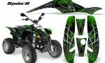 POLARIS Scrambler 500 Trailblazer 350 CreatorX Graphics Kit SpiderX Green Black 150x90 - Polaris Scrambler Trailblazer 1985-2009 Graphics