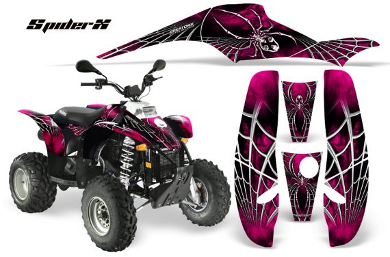 POLARIS Scrambler 500 Trailblazer 350 CreatorX Graphics Kit SpiderX Pink 570x376 - Polaris Scrambler Trailblazer 1985-2009 Graphics