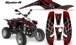 POLARIS Scrambler 500 Trailblazer 350 CreatorX Graphics Kit SpiderX Red Black 150x90 - Polaris Scrambler Trailblazer 1985-2009 Graphics