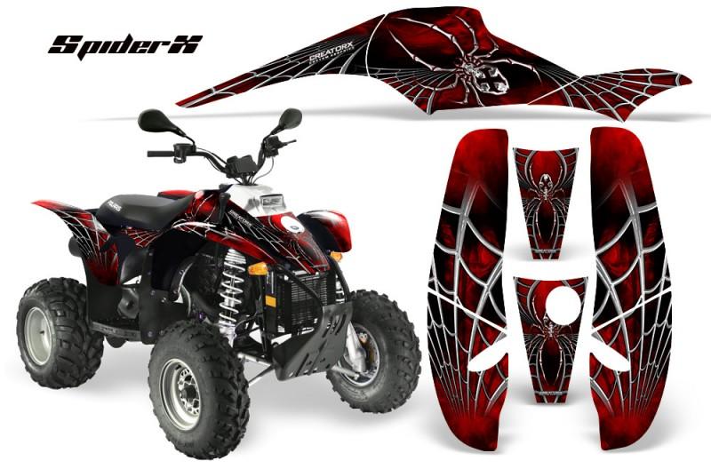 POLARIS-Scrambler-500-Trailblazer-350-CreatorX-Graphics-Kit-SpiderX-Red-Black