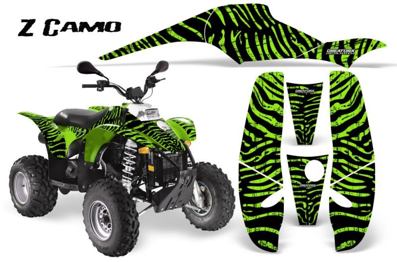 POLARIS-Scrambler-500-Trailblazer-350-CreatorX-Graphics-Kit-ZCamo-Green