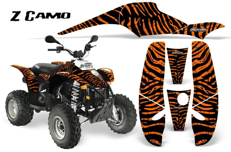 POLARIS-Scrambler-500-Trailblazer-350-CreatorX-Graphics-Kit-ZCamo-Orange