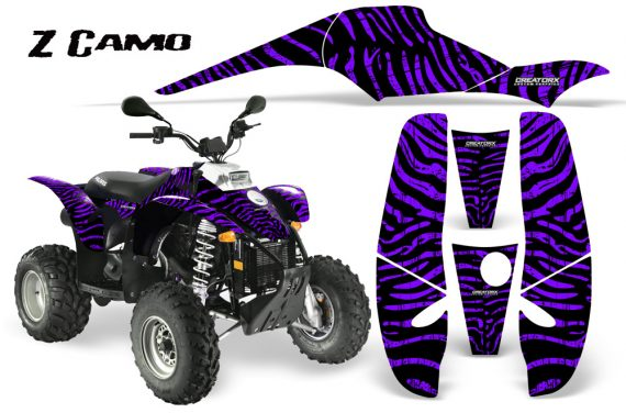 POLARIS Scrambler 500 Trailblazer 350 CreatorX Graphics Kit ZCamo Purple 570x376 - Polaris Scrambler Trailblazer 1985-2009 Graphics