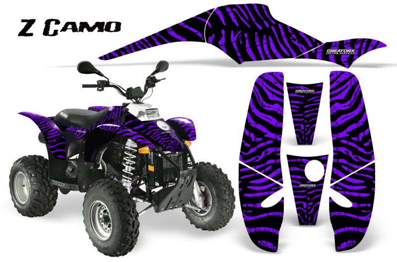 POLARIS-Scrambler-500-Trailblazer-350-CreatorX-Graphics-Kit-ZCamo-Purple