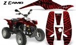 POLARIS Scrambler 500 Trailblazer 350 CreatorX Graphics Kit ZCamo Red BB 150x90 - Polaris Scrambler Trailblazer 1985-2009 Graphics