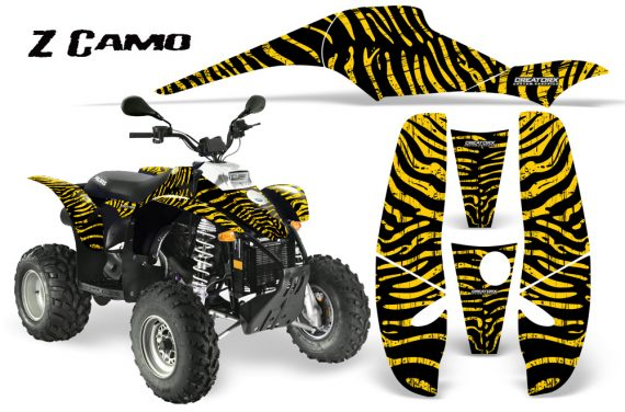 POLARIS Scrambler 500 Trailblazer 350 CreatorX Graphics Kit ZCamo Yellow 570x376 - Polaris Scrambler Trailblazer 1985-2009 Graphics