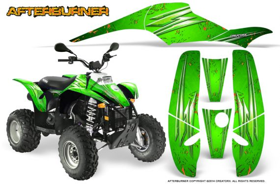 POLARIS Scrambler 500 Trailblazer 350 Graphics Kit Afterburner Green 570x376 - Polaris Scrambler Trailblazer 1985-2009 Graphics