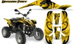 POLARIS Scrambler 500 Trailblazer 350 Graphics Kit Dragon Fury Black Yellow 150x90 - Polaris Scrambler Trailblazer 1985-2009 Graphics