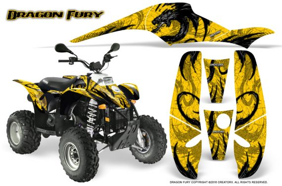 POLARIS Scrambler 500 Trailblazer 350 Graphics Kit Dragon Fury Black Yellow 570x376 - Polaris Scrambler Trailblazer 1985-2009 Graphics