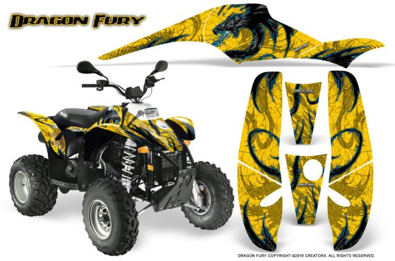 POLARIS Scrambler 500 Trailblazer 350 Graphics Kit Dragon Fury BlueIce Yellow 570x376 - Polaris Scrambler Trailblazer 1985-2009 Graphics