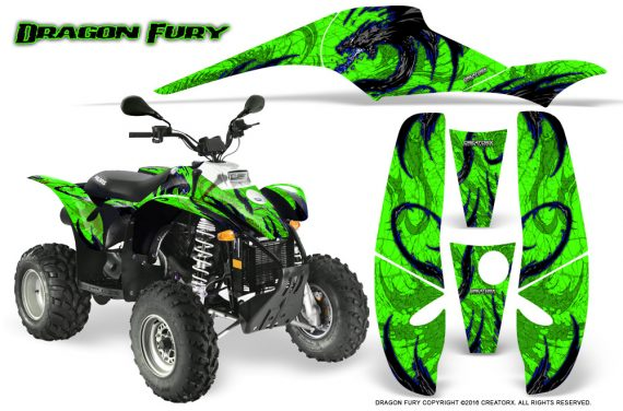 POLARIS Scrambler 500 Trailblazer 350 Graphics Kit Dragon Fury Blue Green 570x376 - Polaris Scrambler Trailblazer 1985-2009 Graphics