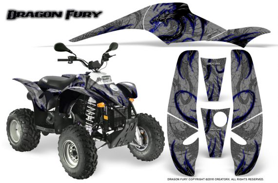 POLARIS Scrambler 500 Trailblazer 350 Graphics Kit Dragon Fury Blue Silver 570x376 - Polaris Scrambler Trailblazer 1985-2009 Graphics